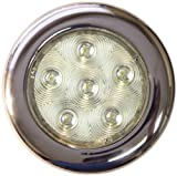 TH Marine LED-51831-DP Puck Light, 4-Inch, Stainless Steel/Warm White by TH Marine