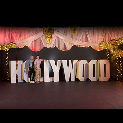 4 ft. 7 in. Hollywood Movie Star 3D Letter Set Standup Photo Booth Prop Background Backdrop Party Decoration Decor Scene Setter Cardboard Cutout
