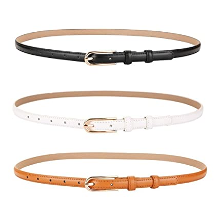 código promocional d69b4 b2b90 KoTag Cinturón de Hebilla Fina de Cuero para Mujer Cinturón ...