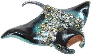 December Diamonds Glass Ornament - Manta Ray with Jewels