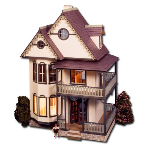 Tennyson Dollhouse Kit Greenleaf Dollhouses Laser Cut by Greenleaf Doll Houses