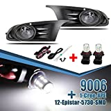 Bumper Fog Lights+Switch Replacement for 2010-2015 VW Golf MK6 TDI TSI +12-5730