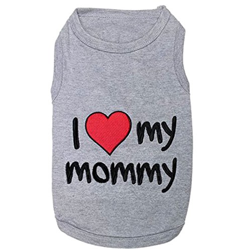 I Love Mommy Dog T-Shirt, Large (Meridian Polo Shirt)