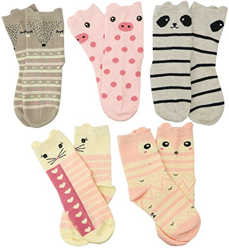 HzCodelo Kids Little Crew Socks Pairs,Multicolor-BOV,Shoe size