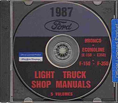 1987 FORD VAN REPAIR SHOP MANUAL CD E-150, E-250, E-350 Econoline, Club Wagon, Window Van, Cargo Van