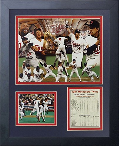 11x14 1987 MINNESOTA TWINS WORLD SERIES CHAMPIONS PUCKETT TEAM 8x10 PHOTO FRAMED