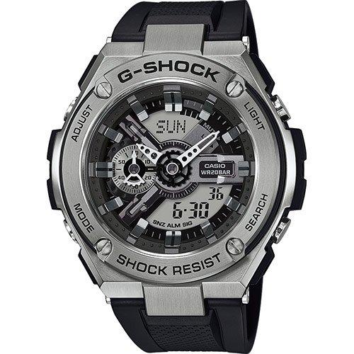 Casio Reloj Analógico-Digital para Hombre de Cuarzo con Correa en Resina GST-410-1AER: Amazon.es: Relojes