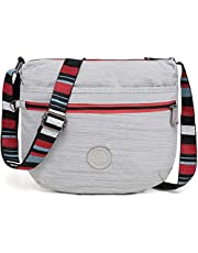 BEKILOLE Slim Crossbody Bag For Girl and Women| Multi-Pocket Purse | Weather Resistant and Durable Everyday Bag,True Dazz Black