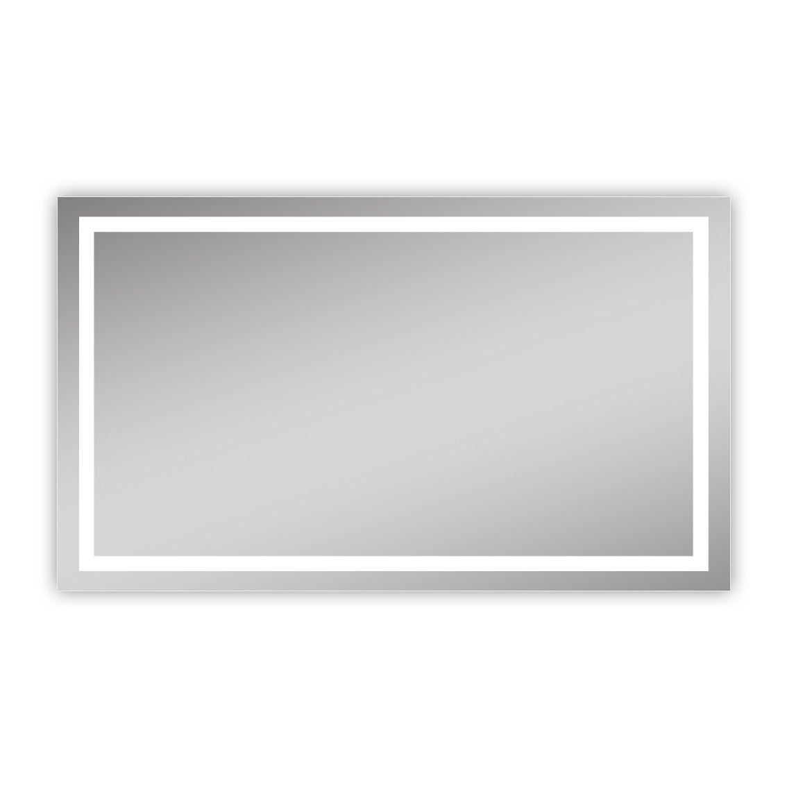 Homeswee Vanity Lighted Copper-free Mirrors, Anti-explosion Safety Eco-friendly Mirror, Wall Mounted Frameless Illuminated Bathroom Mirror Include White Light 6000K and Yellow Light 3000K(48×28 Inch)