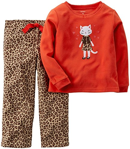 Carter's Baby Girls' 2 Piece PJ Set (Baby) - Cheetah - 12 Months