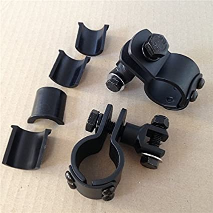 1.25 HTT Motorcycle Black 360 Degree Adjustable Highway Peg Mounting Kit For any Bike Equipped with 1-1//4 inch Front Engine Guard Frame Tube Yamaha V-STAR Roadstar Suzuki Boulevard