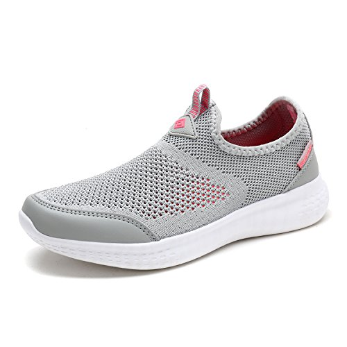 DREAM PAIRS Women's C0189_W Lt.Grey Coral Fashion Running Shoes Sneakers Size 9 M US ()