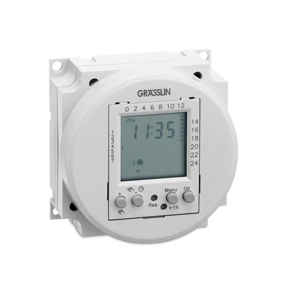 Digital Time Switch Module 1 Channel Daily and Weekly program GR/ÄSSLIN 03.58.0017.1 - 230 V FMD 120 ON//OFF