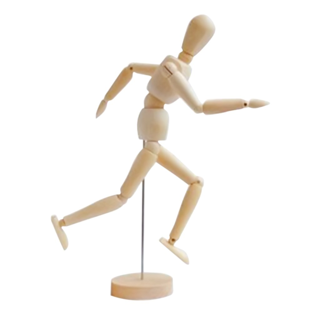 12 Inch Wooden Male and Female Unisex Mannequin Joint Dolls Gosear