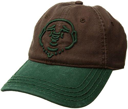 True Religion Men's Buddha Core Baseball Cap, Brown/Green, OSFA