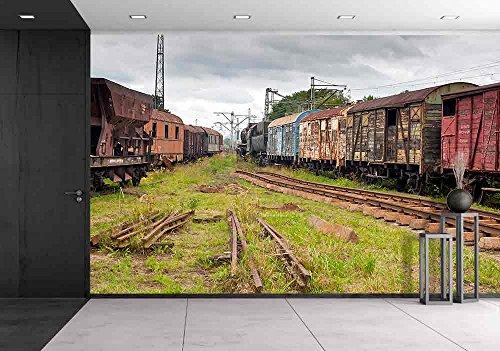 Abandoned Old Railway Wagons at Station