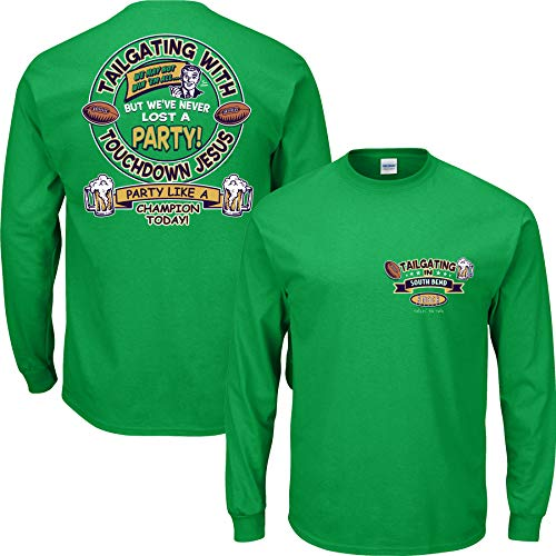 - Smack Apparel Notre Dame Football Fans. Tailgating in South Bend Green T Shirt (Sm-5X) (Long Sleeve, 3XL)