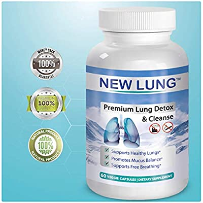 Lung Detox - $30 - Launch Special- Lung Cleanse - Top Rated Herbal Antioxidant Lung Cleanse & Detox. Supports Healthy Lungs & Sinus from Harmful Effects of Smoggy Cities & Years of Smoking