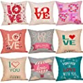 Throw Pillow Cover, DaySeventh Happy Valentine's Day Throw Pillow Case Sweet Love Cushion Cover Pillowcase 18x18 Inch 45x45 cm