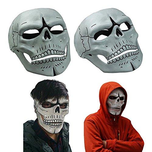 Spectre 007 James Bond Creepy Skull Skeleton Full Face Mask for Halloween Costume (Day Of Dead Mask)