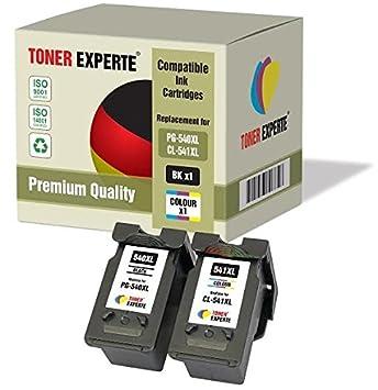 Pack de 2 XL TONER EXPERTE® Compatibles PG-540XL CL-541XL Cartuchos de Tinta para Canon Pixma MG2150 MG2250 MG3150 MG3250 MG3550 MG3650 MG4150 MG4250 ...