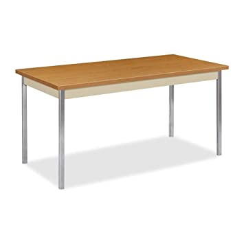 HON Utility Table with Putty and Chrome Leg Finish  60 quot  x 30 quot. Amazon com  HON Utility Table with Putty and Chrome Leg Finish  60