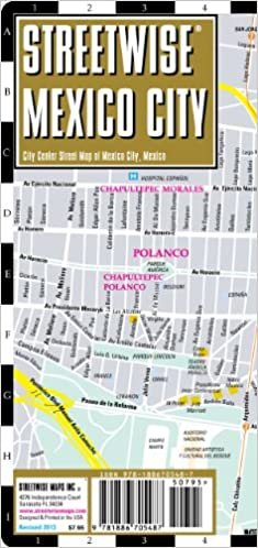 Streetwise Mexico City Map - Laminated City Center Street ... on need a map of north america, need a map of california, need a map of europe,