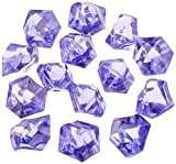 Firefly Imports Homeford 50-Piece Acrylic Crystal Ice Rocks Table Scatter, Purple, 1-Inch