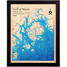 Douglas Lake in Cocke Jefferson Sevier, TN - Print Map 14 x 18 IN - Multicolor print framed nautical chart and topographic depth map.