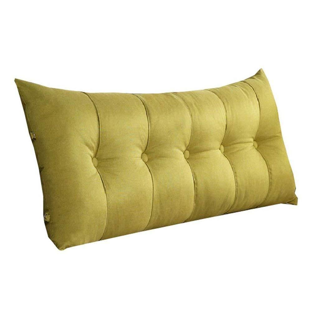 Lts ベッドバッククッションクッションベッドソフトバッグトライアングルウエストパッド読書枕レジャー洗える (Color : 緑, サイズ : 120 x 60 x 20cm) B07SBY236D 緑 120 x 60 x 20cm