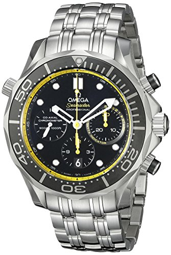 Omega Men's 21230445001002 Analog Display Automatic Self Wind Silver Watch