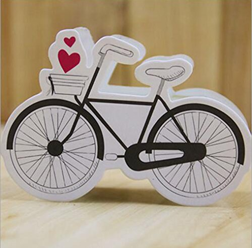 Ctystallove 30pcs DIY Paper Wedding Favor Box Bridal Shower Baby Birthday Party Candy Sugar Gift Boxes (Bike-Style)