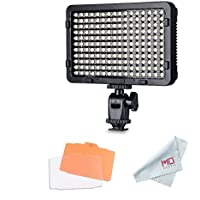 Tolifo Pt-176S LED Video Light Panel, Dimmable Ultra Thin Digital Camera Camcorder Video Light for Studio Lighting
