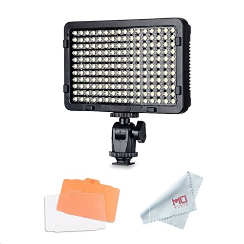 Tolifo Pt-176S LED Video Light Panel, Dimmable Ultra Thin Digital Camera Camcorder Video Light for Studio Lighting by TOLIFO