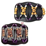 Lamdoo Easy Magic Wood Beads Double Hair Comb Clip Stretchy Women Hair Accessories Hot—Purple
