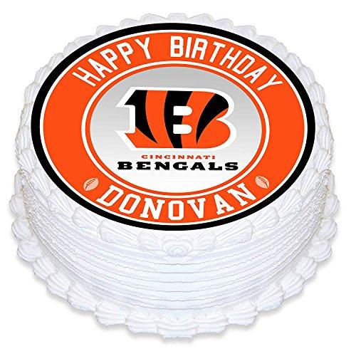 Cincinnati Bengals Sugar - Cincinnati Bengal Edible Image Cake Topper Personalized Birthday 10