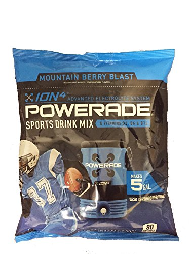 Powerade Mountain Berry Blast Powder Drink Mix, 5 Gallon Bag - Berry Blast Drink