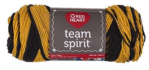 - Red Heart Team Spirit Yarn, Gold/Black