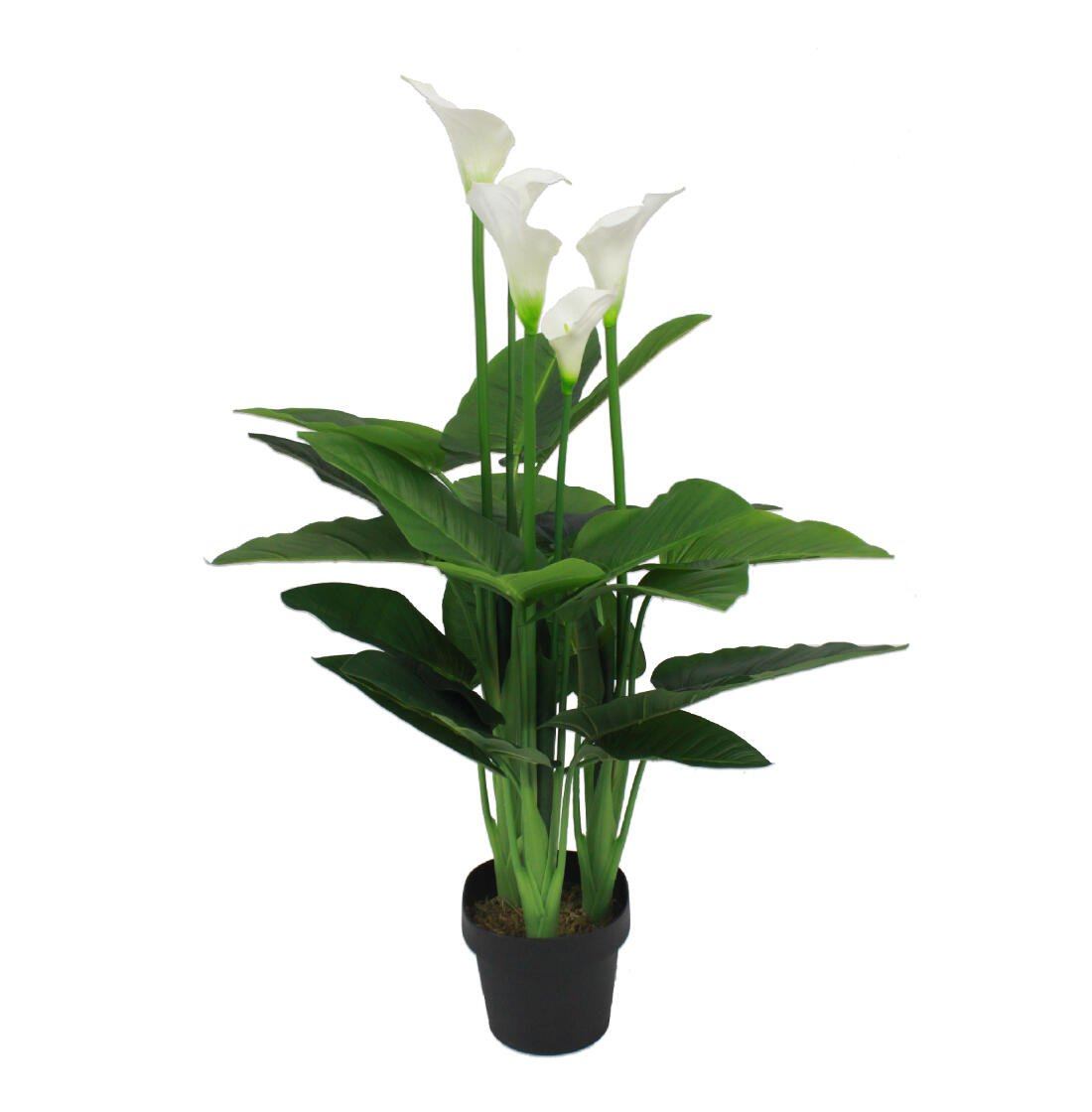 Blooming Artificial - Artificial 58cm / 2ft (H) Calla Lily, Realistic Faux Potted White Lily Magnolia Flower Plant, Perfect for Home Office Living Room Hallway Bedroom, Elegant Wedding Decor, Perfect Gift Idea BloomingArtificialUK