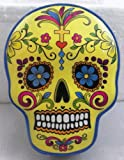 Yellow Day Of The Dead Sugar Skull Trinket Box Jewelry