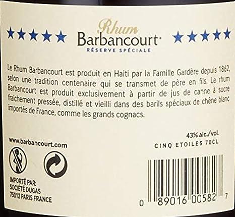 Rhum Barbancourt 8 años 43 ° 70 cl