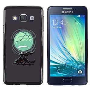 LECELL--Funda protectora / Cubierta / Piel For Samsung Galaxy A3 -- Parca & Wolf --