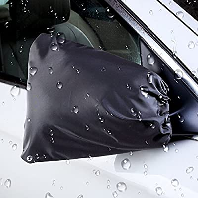Zone Tech Auto Side Mirror Protective Cover - Premium Quality Classic Black Auto Exterior Mirror Covers from Snow, Ice and Frost
