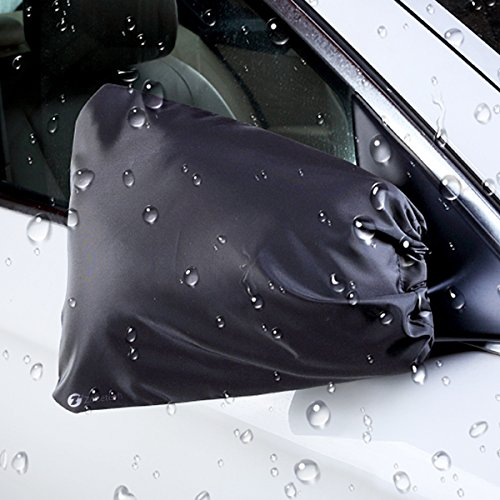 Zone Tech Auto Side Mirror Protective Cover - Premium Quality Classic Black Auto Exterior Mirror Covers from Snow, Ice and Frost (Doors Car Frozen Open)
