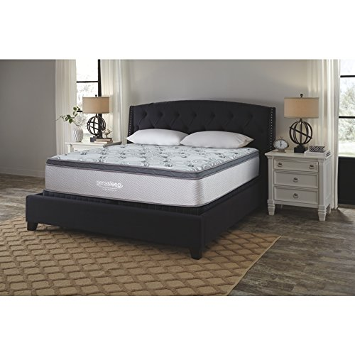 Signature Design by Ashley M89941 Augusta Bed Mattress Conventional, King, White