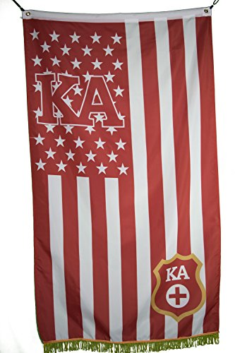 Kappa Alpha Order US Style Licensed Flag Banner 3X5