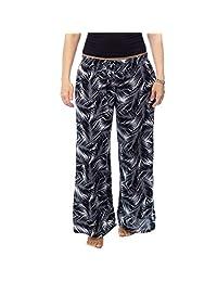 Dandelion Playa Pantalon Ligero Estampado Blanco y Negro con Resorte y jareta en Cintura