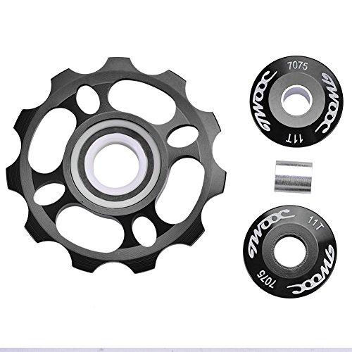 11T jockey rueda polea del desviador trasero con cojinete de cerámica para Mountain Bike bicicleta de carretera piezas de...