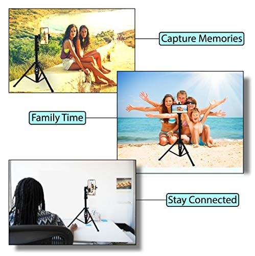 Selfie Stick & Tripod Fugetek, Integrated, Portable All-in-One Professional, Heavy Duty Aluminum, Bluetooth Remote… 4