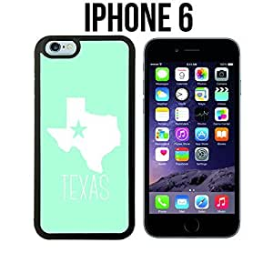 Tiffany Teal Texas State Custom made Case/Cover/Skin for iPhone 6 - Black